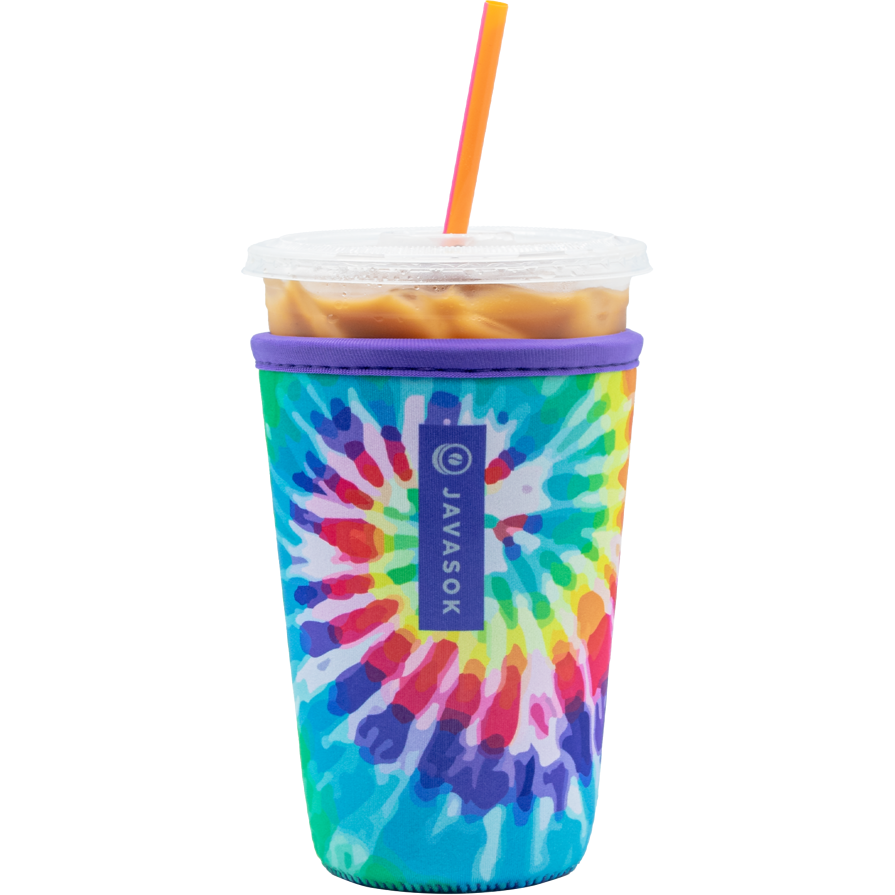 JavaSok Medium 22-28 oz, Tie Dye Rainbow