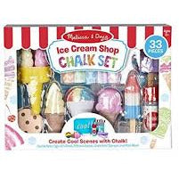 Melissa and Doug Ice Cream Shop Chalk Set