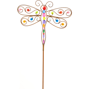 Large Acrylic Dragonfly Garden Stake CURBSIDE PICKUP ONLY