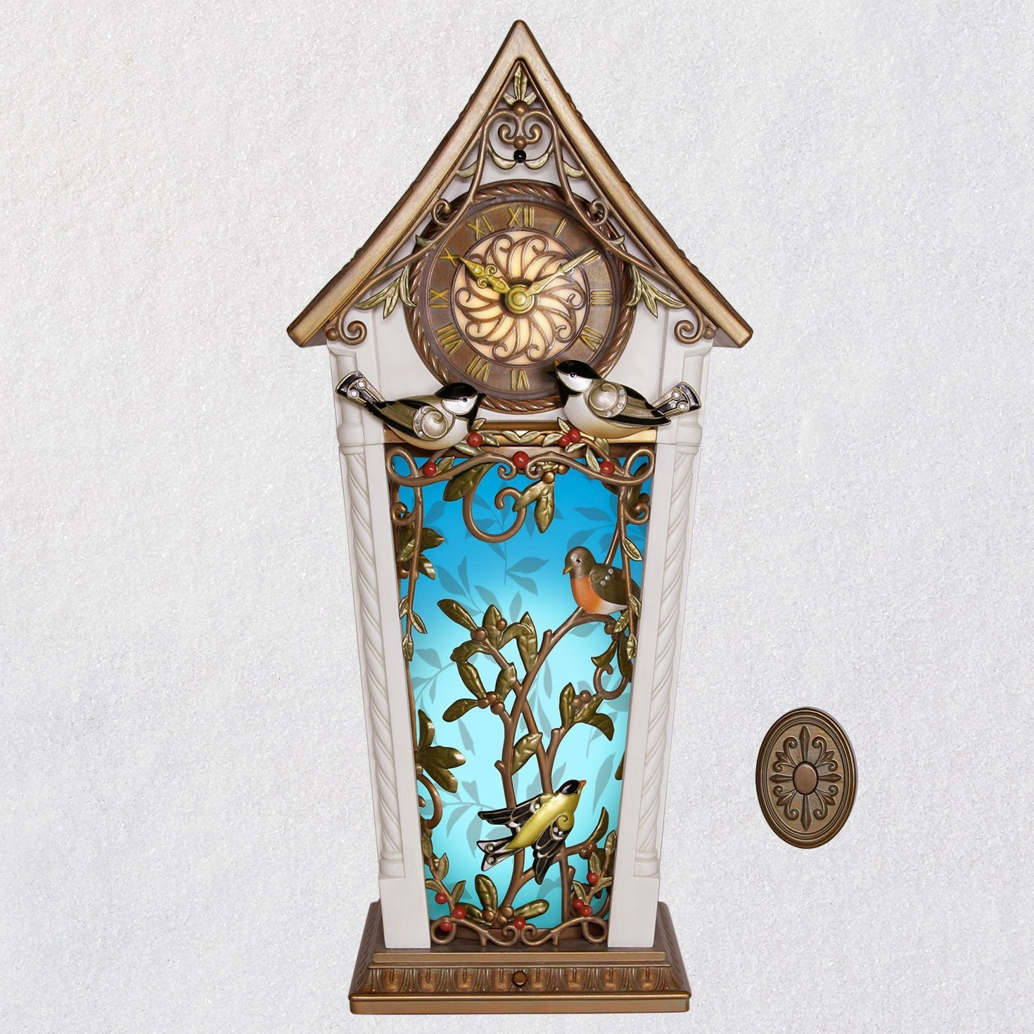 Hallmark The Beauty of Birds Musical Clock With Motion and Light