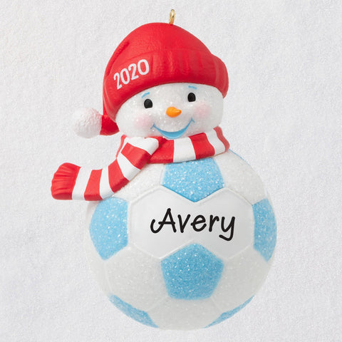 Hallmark Soccer Snowman 2020 Personalized Ornament