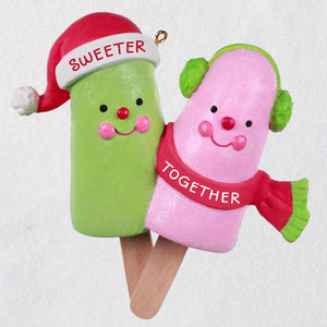 Hallmark Sweeter Together Popsicle Couple Ornament