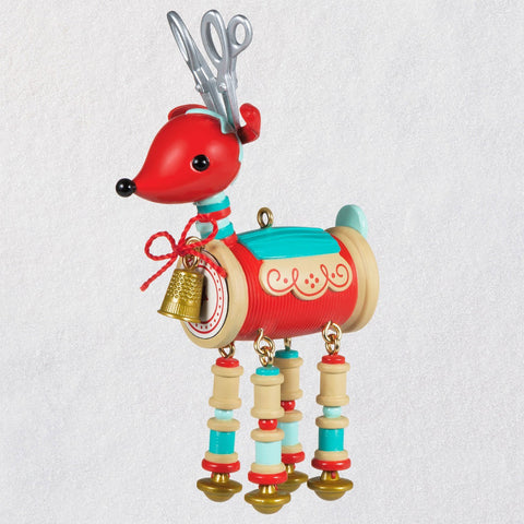Hallmark Sew Darn Cute! Sewing Reindeer Ornament