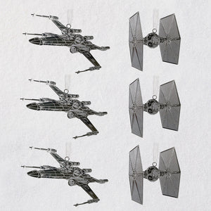 Hallmark Star Wars™ Galactic Battle Metal Ornaments, Set of 6