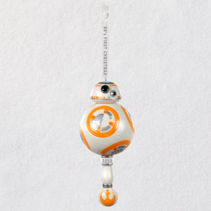 Hallmark Star Wars™ BB-8™ Baby's First Christmas Porcelain Ornament With Rattle