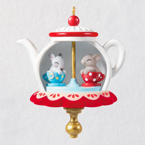 Hallmark Mini Tea Party Twirl-About Ornament With Motion, 1.62""