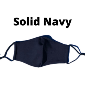 Solid Navy Mask