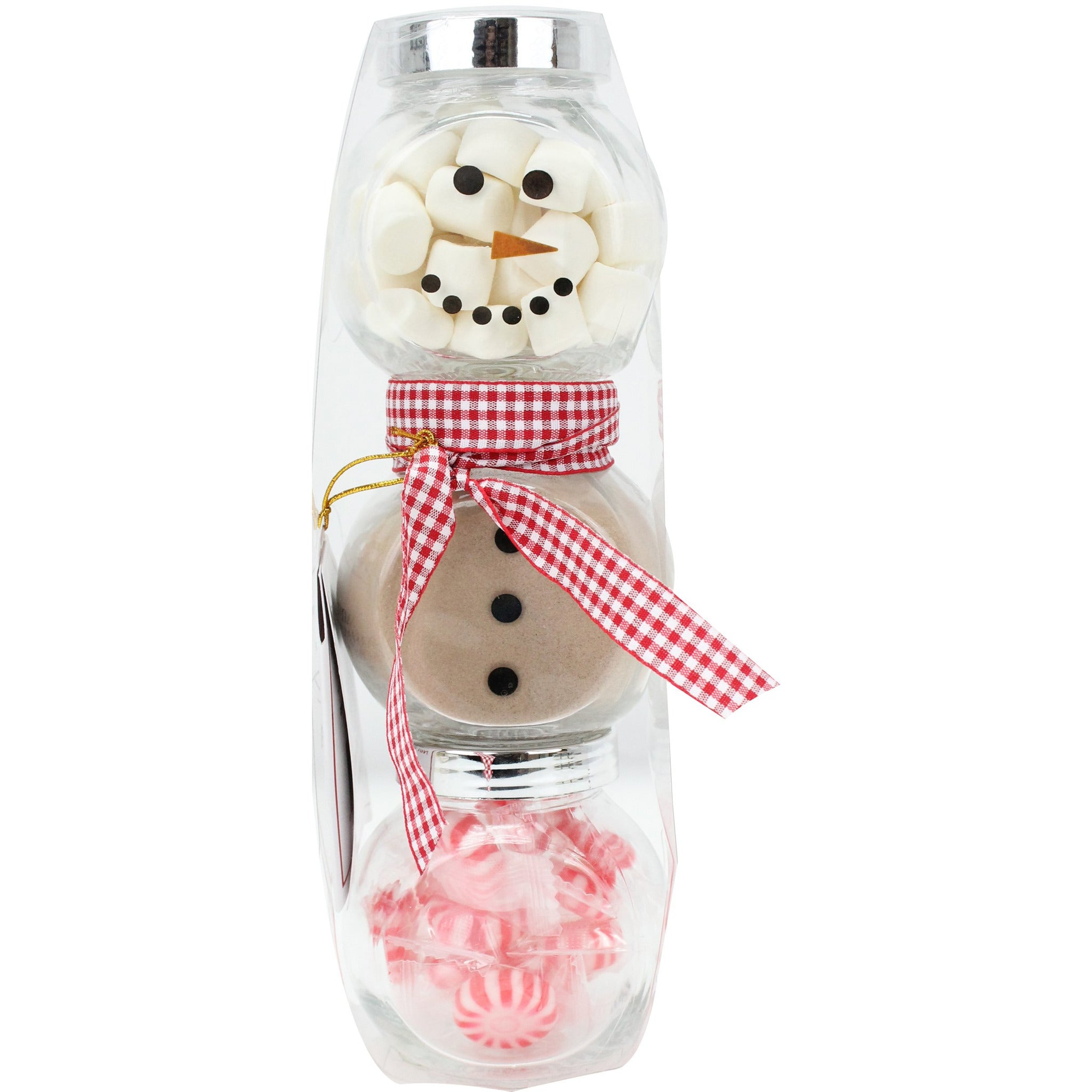 Snowman Hot Cocoa Set Red Scarf