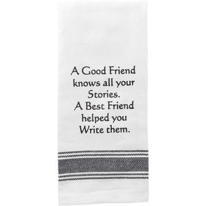 A Good Friend Sentiment Towel
