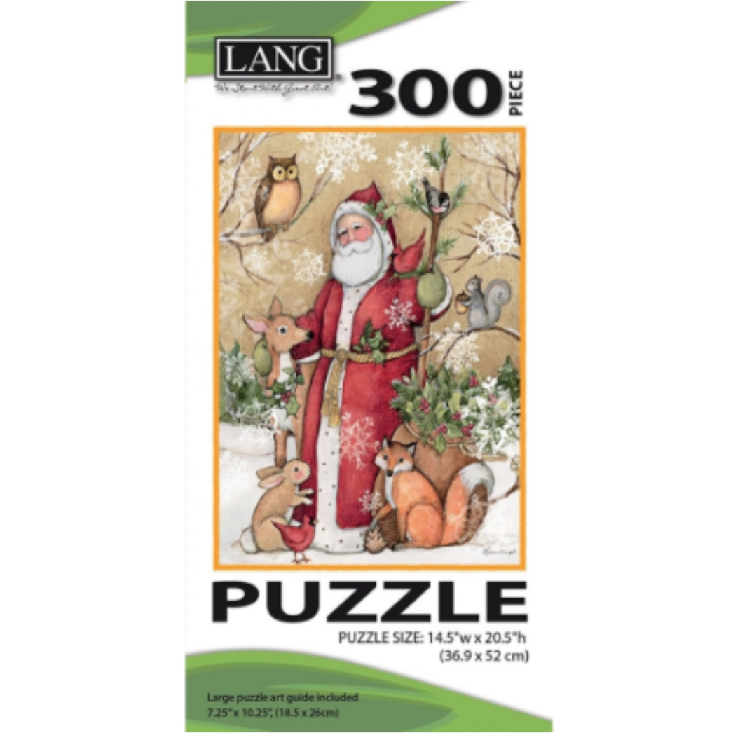 Woodland Santa 300 Piece Puzzle by Susan Winget