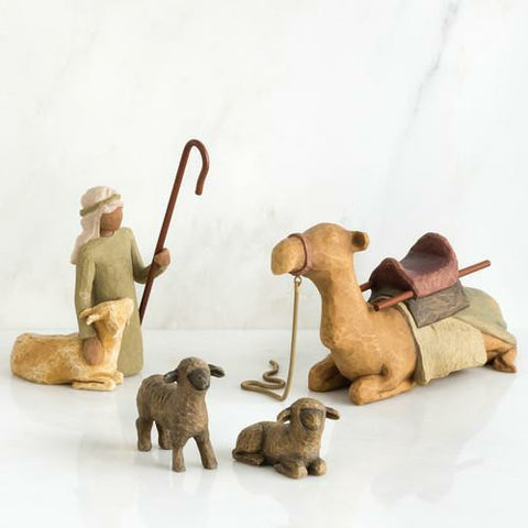 Willow Tree Shepherd & Stable Animals