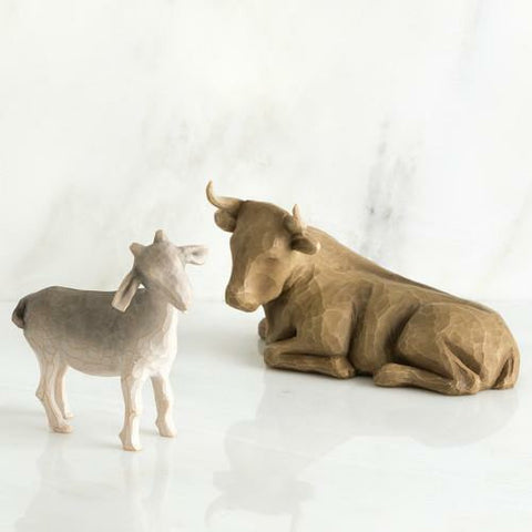Willow Tree Ox And Goat 2Pc Set