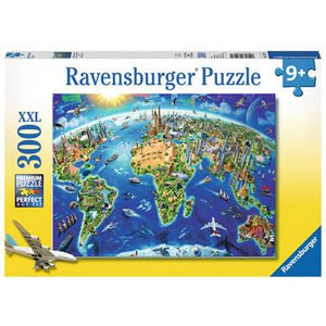 World Landmarks Map 300 Pc