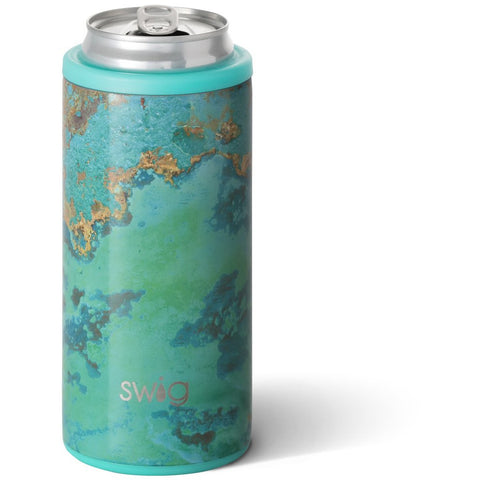 Copper Patina Skinny Can Cooler 12oz