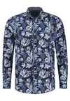 Amsterdenim – Shirt – CAROLUS L/S – Blue on Blue