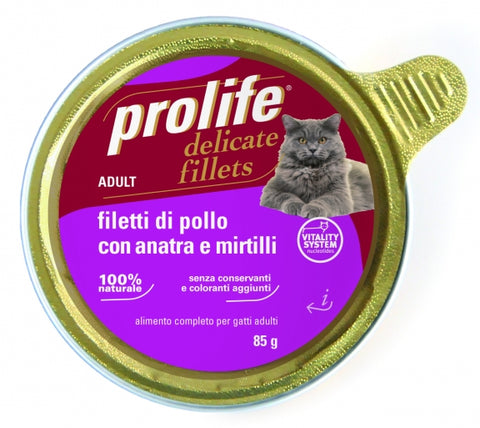Filetti di Pollo con Anatra e Mirtilli 85 gr