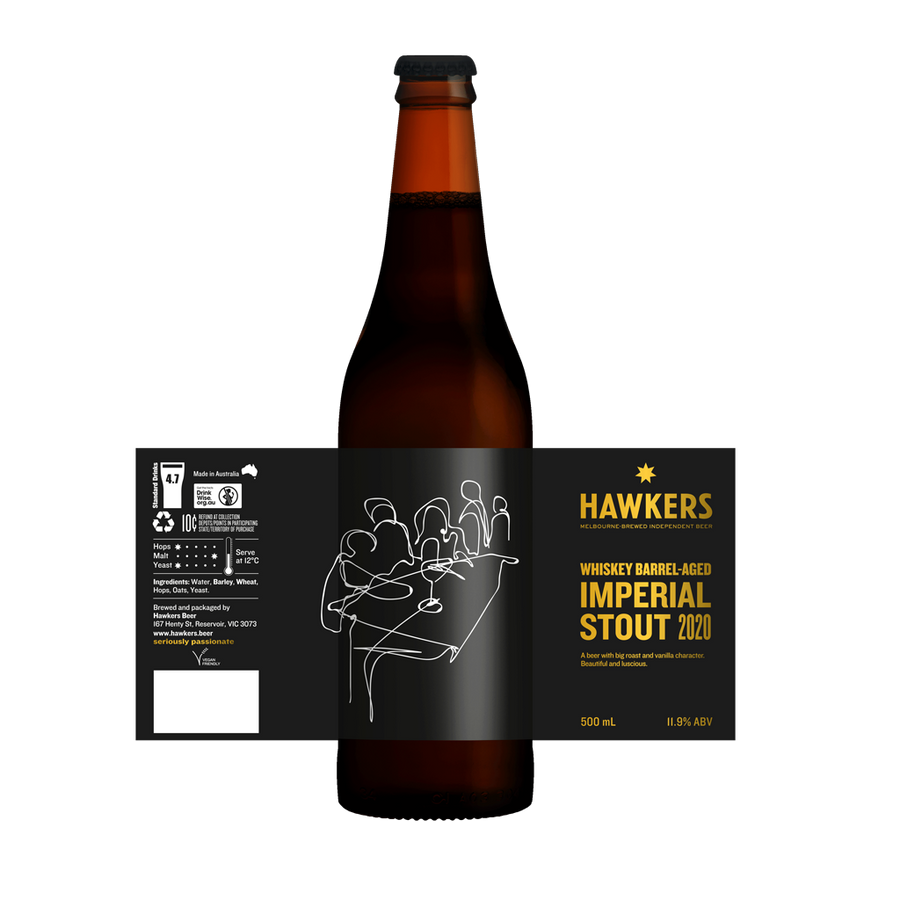 Whiskey Barrel Aged Imperial Stout (2020)