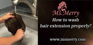 How to wash hair extension properly?