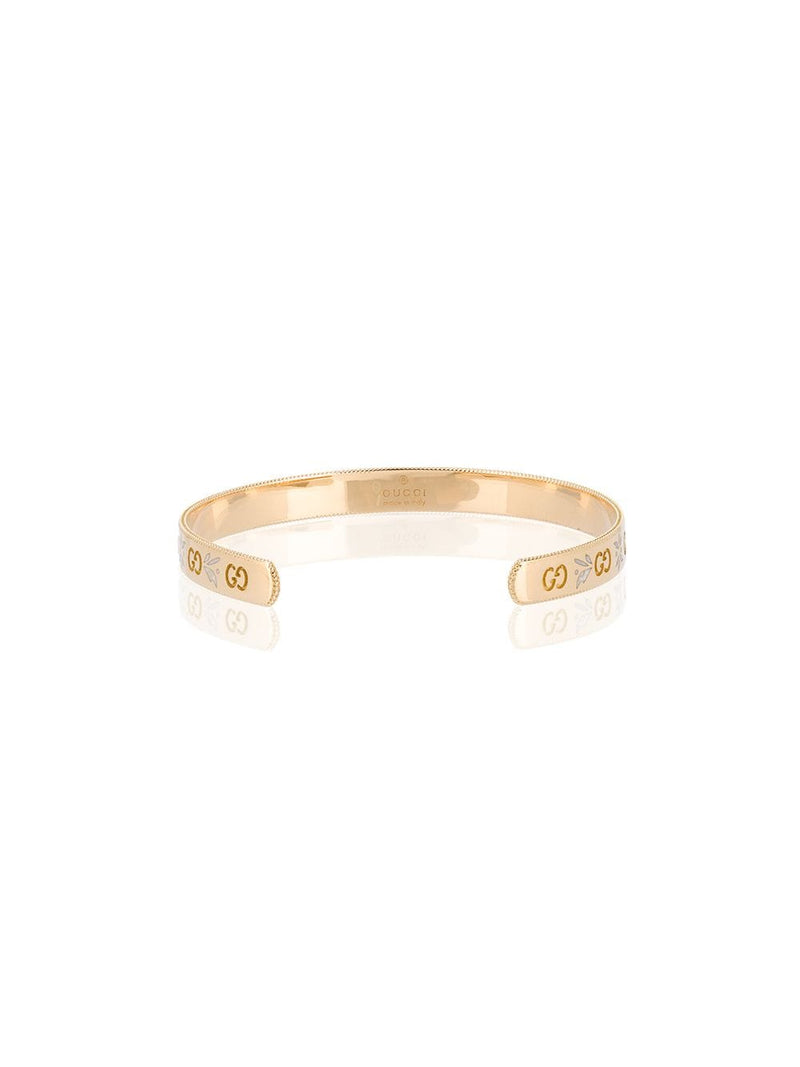 Icon bracelet in yellow gold