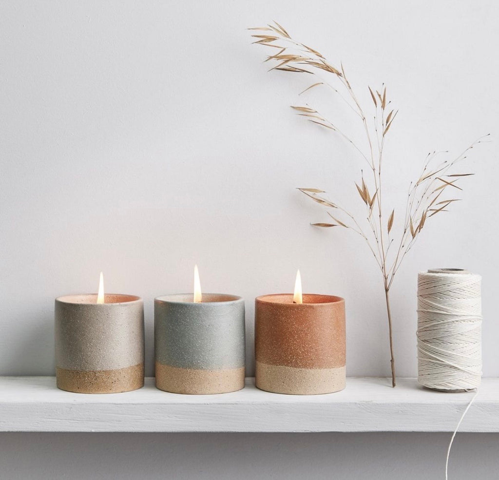 Set of 3 earth & sky candles