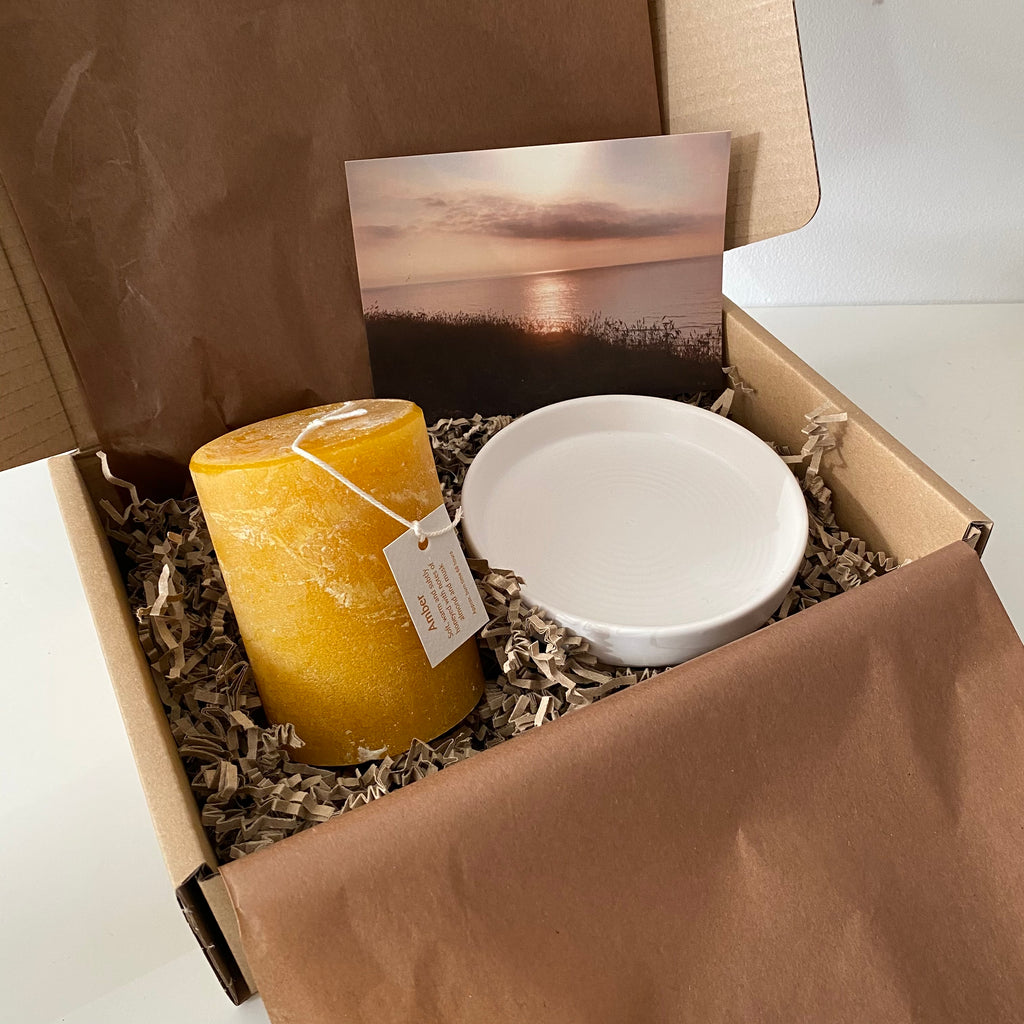 Amber candle gift box
