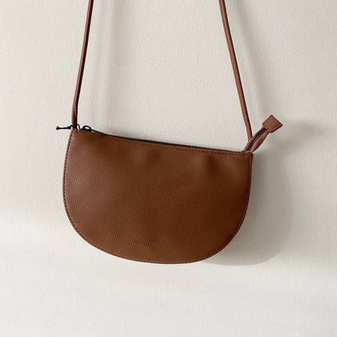 Chestnut Farou half moon bag