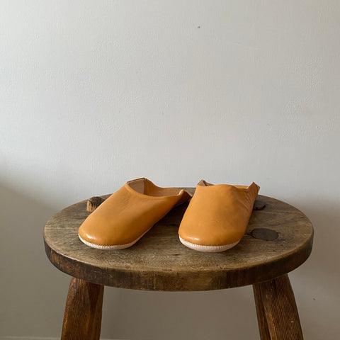 Mustard Moroccan babouche slippers