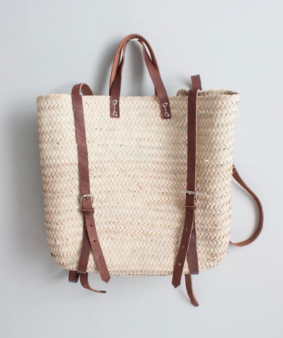 Woven Satchel Backpack