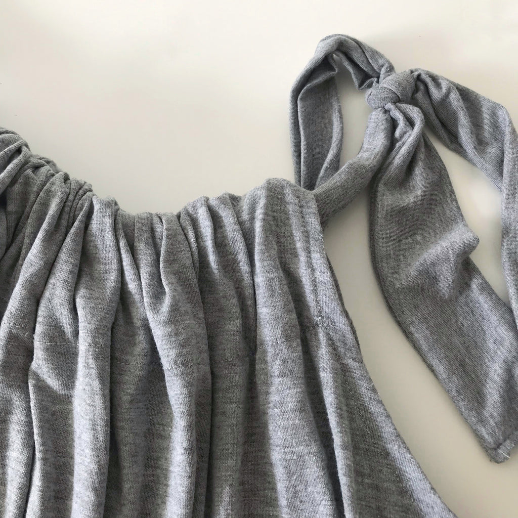 Marl grey drawstring jumpsuit
