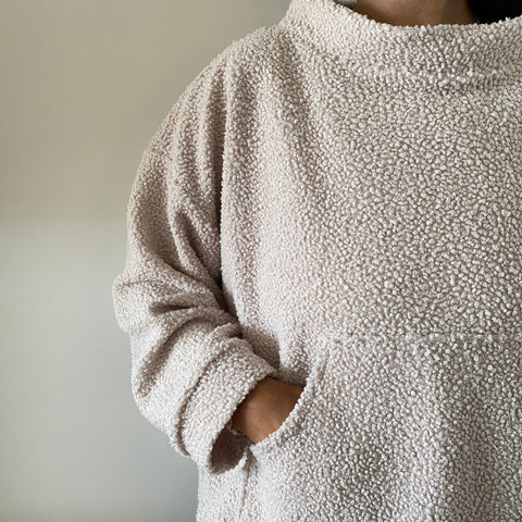 Almond Milk Funnel Neck Fleece