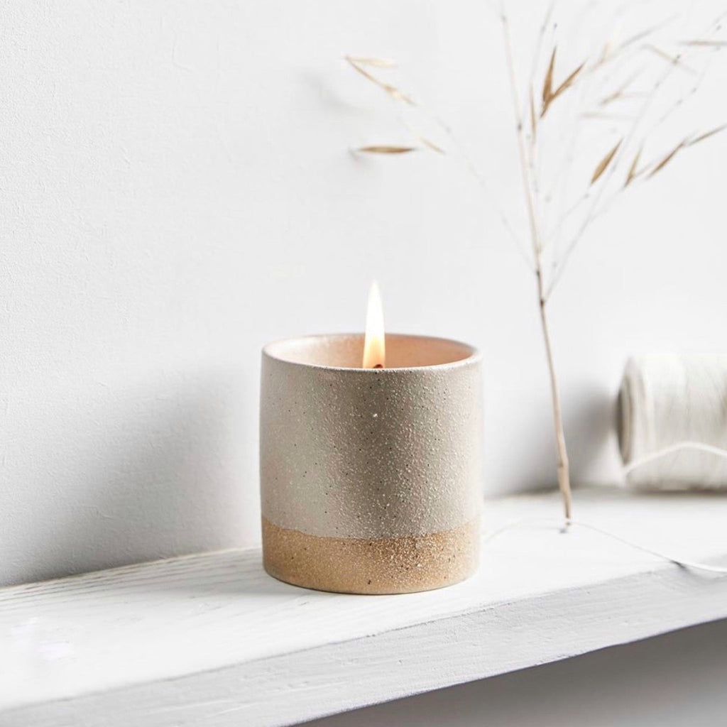 Earth and sky Bay + Rosemary candle