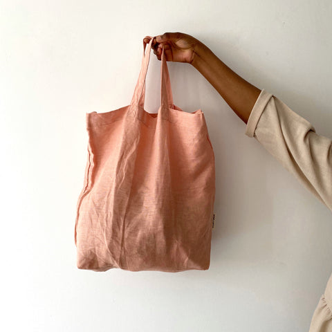 Baya dawn linen shopper