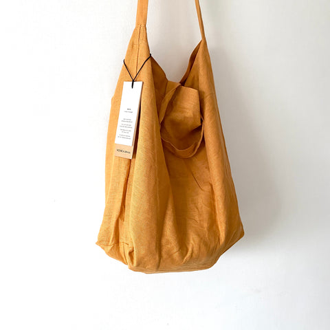 Baya honey linen shopper