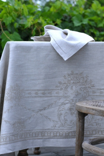 French Melody Linen Tablecloth, Natural