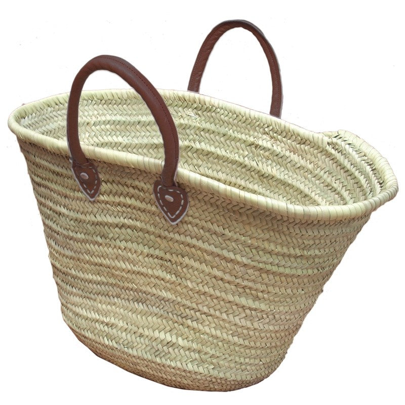 Brown Handle French Market Basket