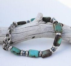 Turquoise Rectangle Bracelet  4109B