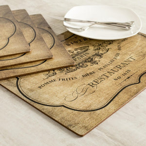 Cork Backed French Placemats, set of four