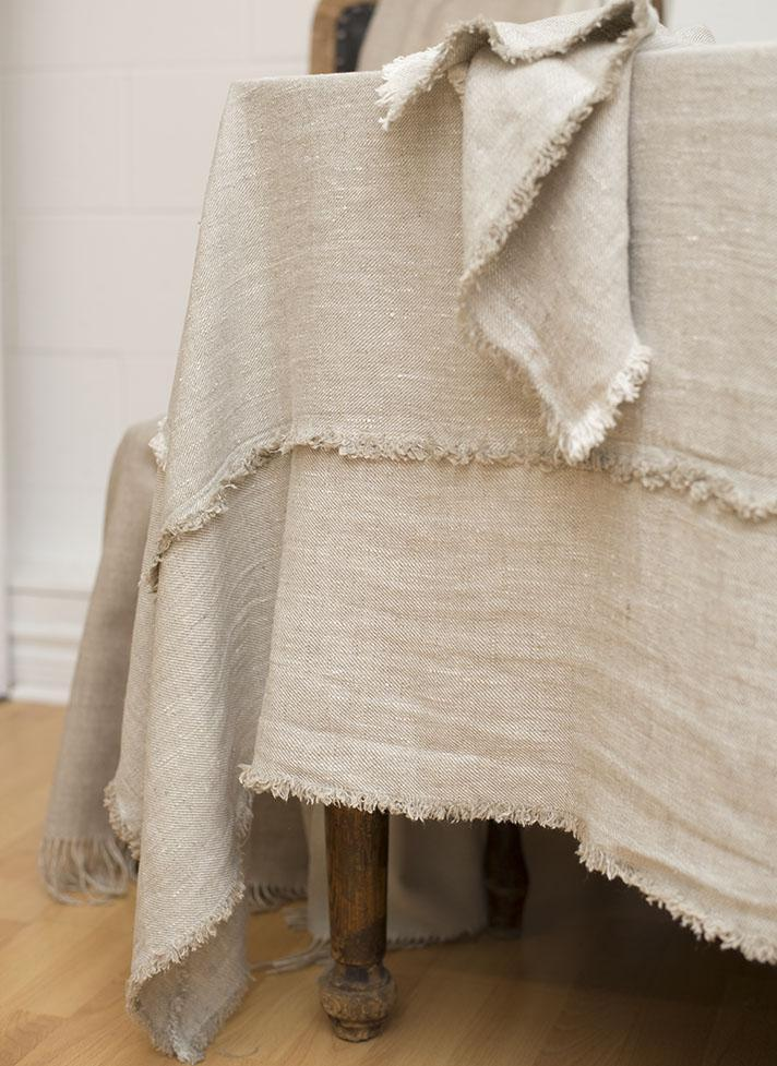 Bilbao Linen Tablecloth, Beige