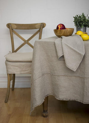 Bilbao Linen Tablecloth, Natural