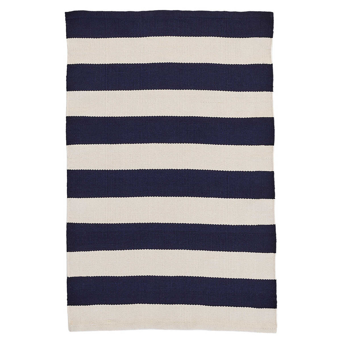 Catamaran Stripe Navy & Ivory  Indoor/Outdoor Rug