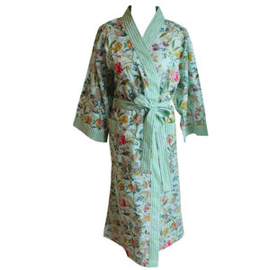 Mint Floral Robe
