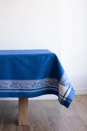 Majesty Linen Tablecloth, French Blue