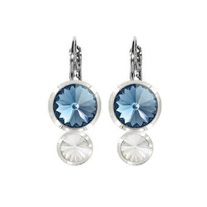 Double Rivoli Euroback Earrings - E2818