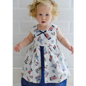Nautical Pinafore Dress