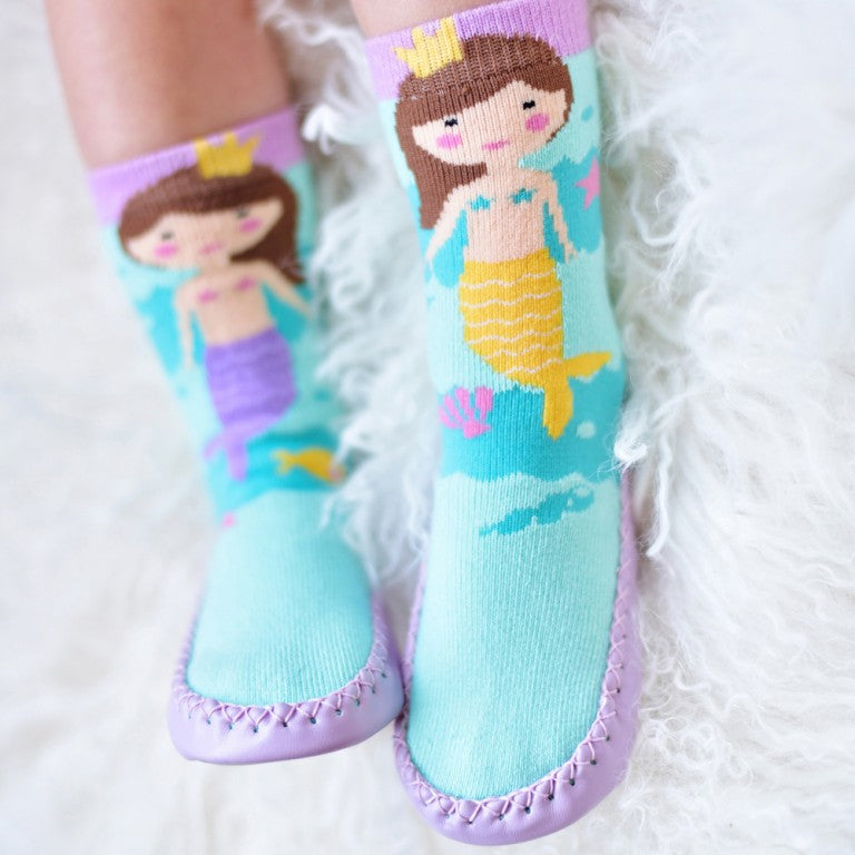 Mermaid Moccasin Slippers