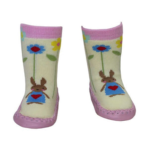 Rabbit Moccasin Slippers