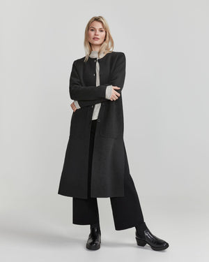 Norma Coat, in Navy