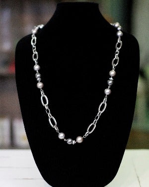 Combination Cream Pearl Necklace