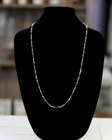 Bright Rhodium Delicate Chain
