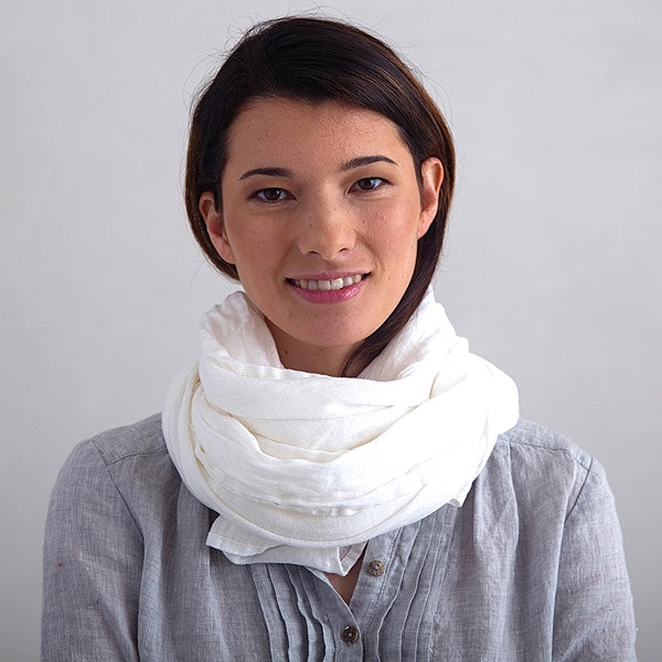 European Linen Scarf,  Off White
